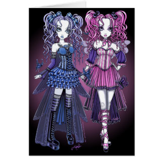 Maegan & Haylee Gothic Couture Fairy Sisters Card