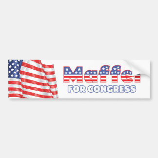 Maffei for Congress Patriotic American Flag Bumper Sticker