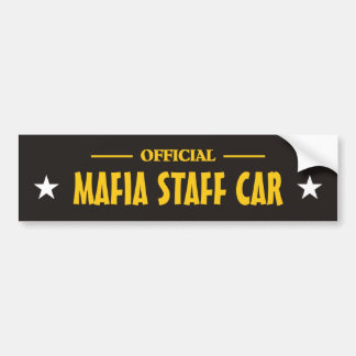Mafia bumper_sticker bumper sticker