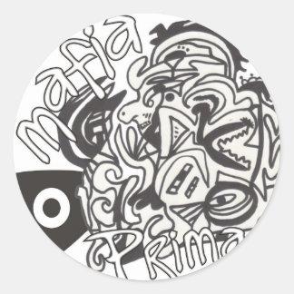 Mafia Prima Round Sticker