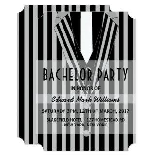 Mafia Suit Bachelor Party Card