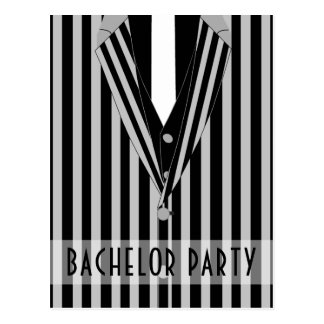 Mafia Suit Bachelor Party Invitation Postcard
