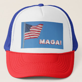MAGA! American Flag Trucker Hat