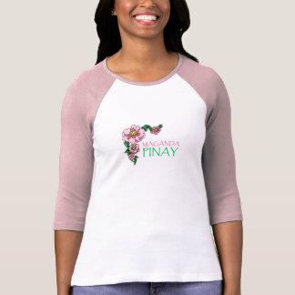 """""""Maganda Pinay"""" Pink Baseball Jersey T-Shirt"""