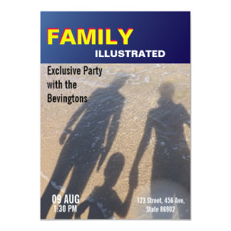 Magazine Cover Family Party Beach Wedding Card
