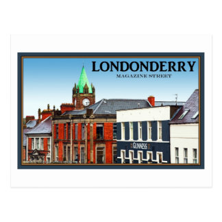 Magazine Street in Londonderry Postcard