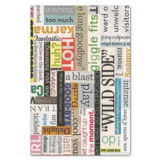 Magazine Typography Collage Tissue Paper
