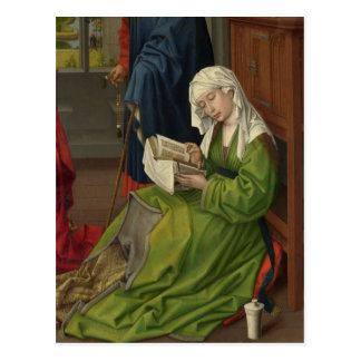 Magdalen in Green Reading Postcard