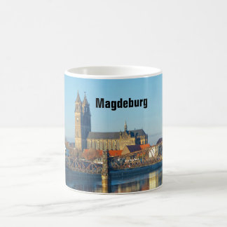 Magdeburg Cathedral with river Elbe 01.2.T Coffee Mug