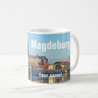 Magdeburg Cathedral with river Elbe 01.3.T(P) Coffee Mug