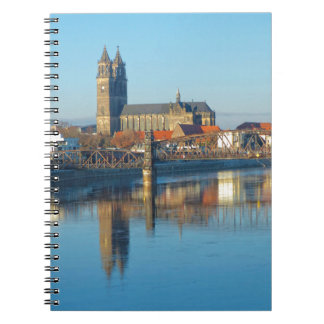 Magdeburg Cathedral with river Elbe 01 Notebooks