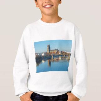 Magdeburg Cathedral with river Elbe 01 Sweatshirt