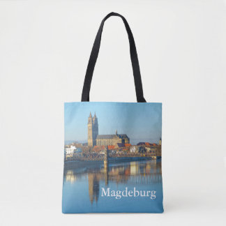 Magdeburg Cathedral with river Elbe 1.2.T Tote Bag