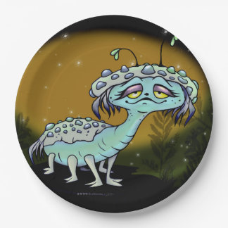 MAGE ALIEN PAPER PLATE 9 inches MONSTER