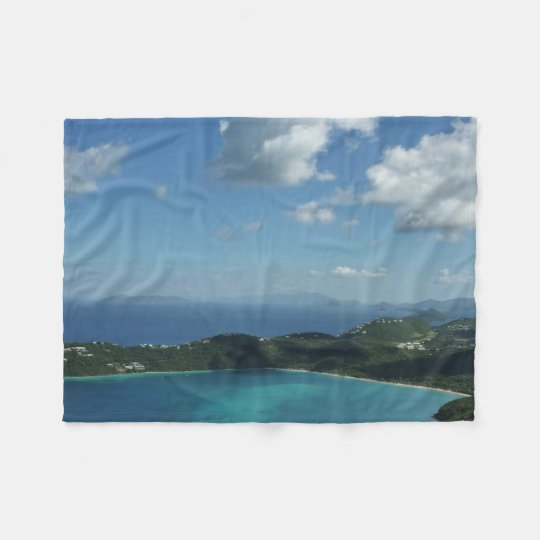 Magens Bay, St. Thomas Beautiful Island Scene Fleece Blanket