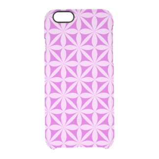 Magenta abstract decoration clear iPhone 6/6S case