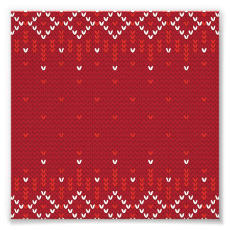 Magenta and Red Christmas Abstract Knitted Pattern Photo