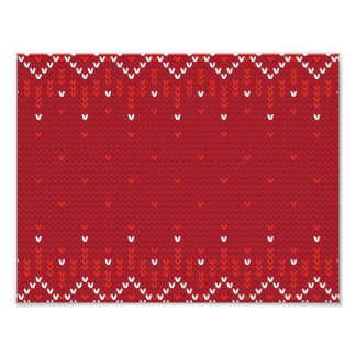 Magenta and Red Christmas Abstract Knitted Pattern Photograph