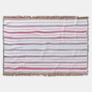 Magenta and Violet Striped Throw