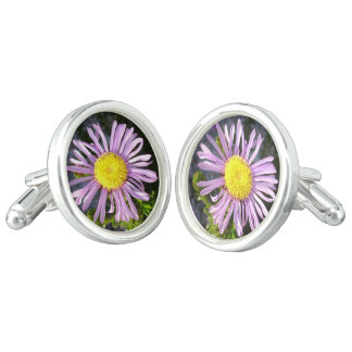 Magenta Aster - A Star of Love and Fidelity Cuff Links