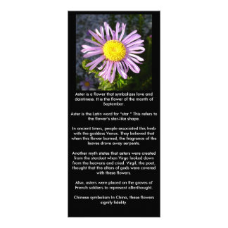 Magenta Aster - A Star of Love and Fidelity Customised Rack Card