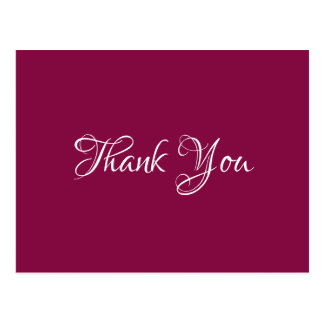 Magenta Chic Event Wedding Gift Budget Thank You Postcard