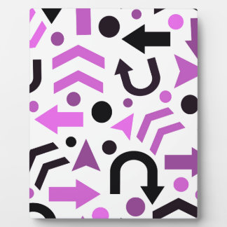 Magenta direction pattern display plaques