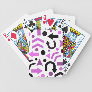 Magenta direction pattern poker deck