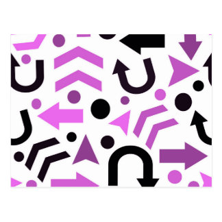 Magenta direction pattern postcard