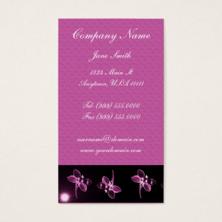 Magenta Dragonfly Business Card