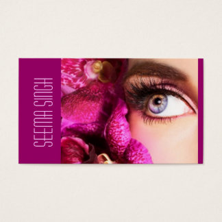 Magenta Eyes flowers Business Card