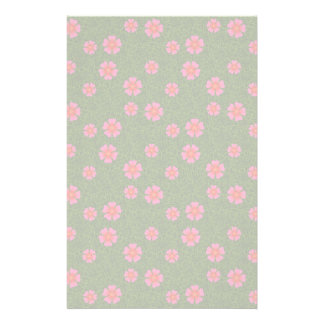 Magenta floral pattern stationery
