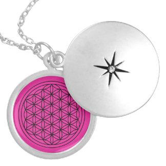 Magenta Flower of Life Mandala Necklace
