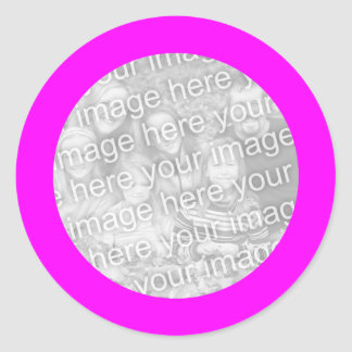 Magenta Frame Sticker