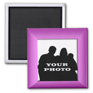 Magenta Frame Your Photo Magnet Template