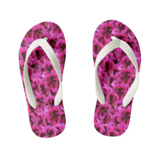 Magenta Geranium Flowers, Kid's Thongs