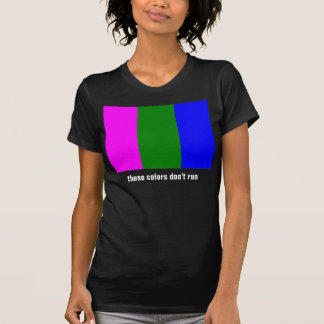 Magenta Green Blue T-Shirt