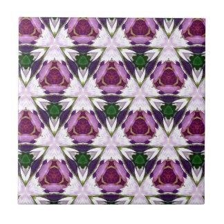 Magenta Green Burgandy Geomettic Chic Pattern Ceramic Tile