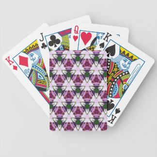 Magenta Green Burgandy Geomettic Chic Pattern Poker Deck