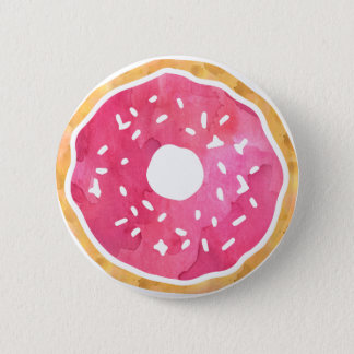 Magenta Hot Pink Donut Button