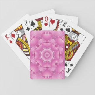 Magenta Kaleidoscope Playing Cards