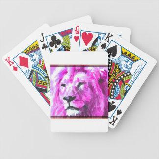Magenta Lion Poker Deck