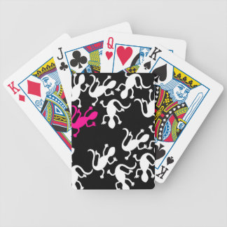 Magenta lizard pattern bicycle playing cards