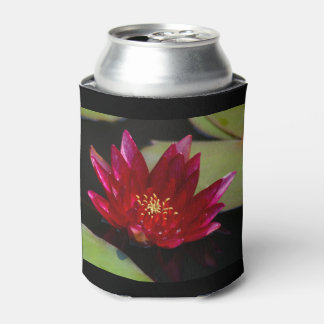 Magenta Lotus Waterlily Can Cooler