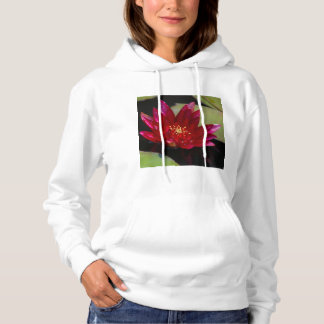 Magenta Lotus Waterlily Hooded Sweatshirt