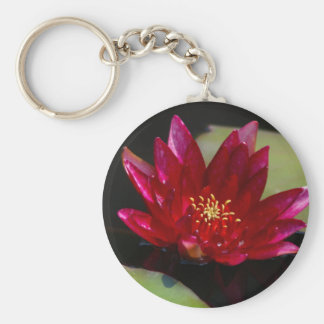Magenta Lotus Waterlily Key Ring