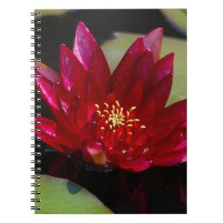 Magenta Lotus Waterlily Notebook