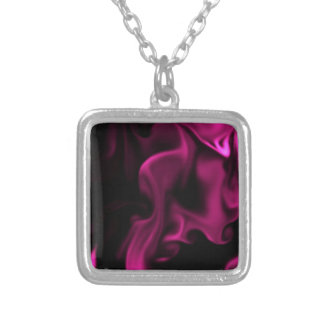 MAGENTA Madness Satin line by OELA Silver Plated Necklace