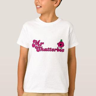 Magenta Mr. Chatterbox Logo T-Shirt