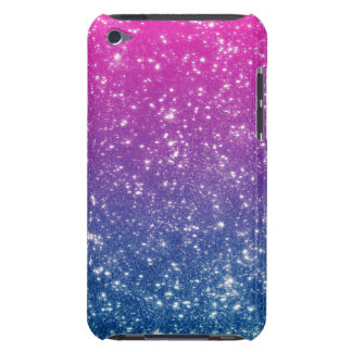 Magenta Ombre Glitter iPod Touch Covers